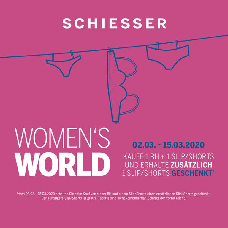 Grafik für die Women's World beim Schiesser