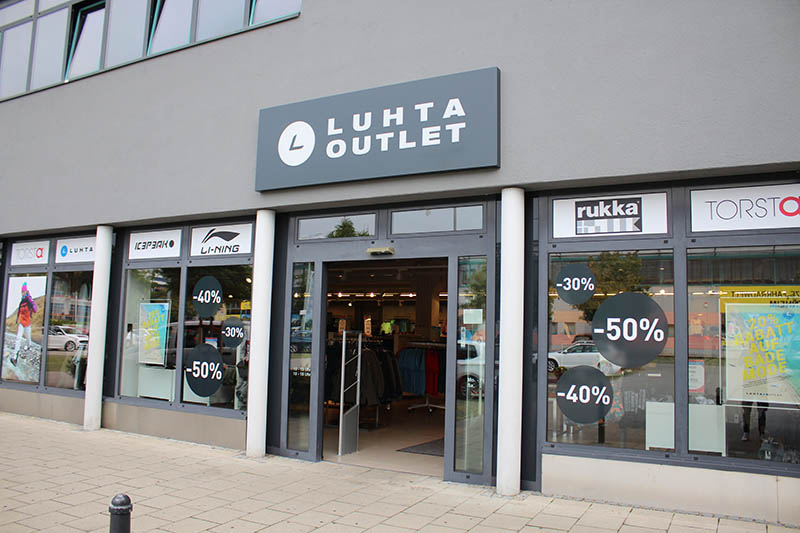 Eingang vom Luhta Outlet