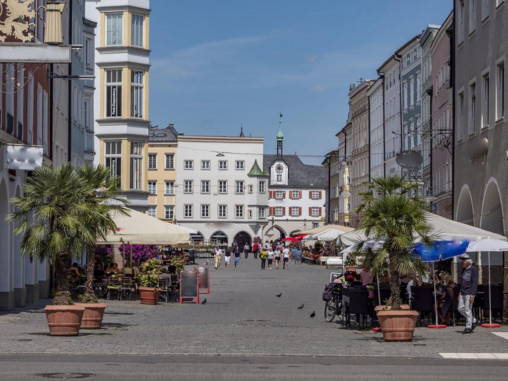 Einkaufsstraße der Stadt Rosenheim