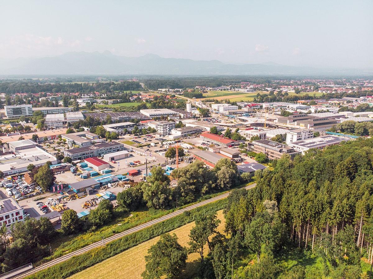 Übersicht über die Stadt Rosenheim