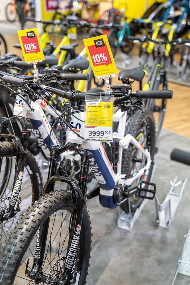 Fahrräder im Angebot